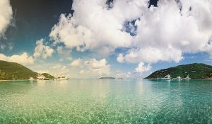 blue sky with clouds over azure waters-SansDesk