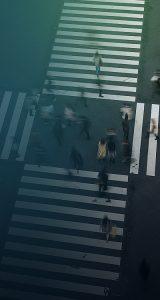 group of people crossing the pedestrian crossing-SansDesk